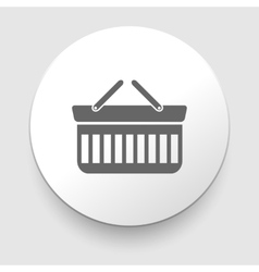 Shopping basket icon vector