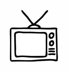 simple tv vector image
