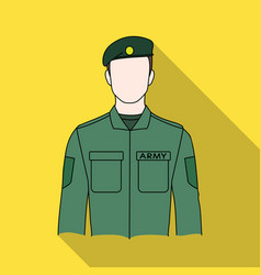 soldierprofessions single icon in flat style vector image