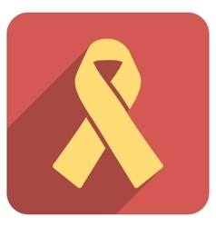 Solidarity Ribbon Flat Rounded Square Icon with vector
