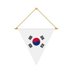 south korean triangle flag hanging vector image