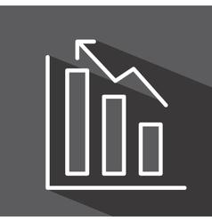 Statistics graph isolated icon design vector