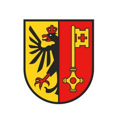 Swiss canton crest switzerland geneva coat arms vector