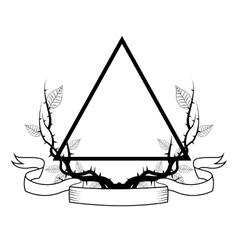 Triangle tattoo art design vector