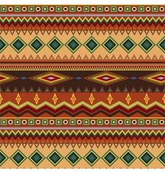 Tribal ethnic seamless stripe pattern on orange vector image