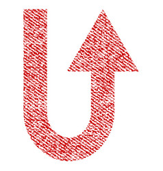 Turn forward fabric textured icon vector