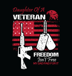 veteran design concept with daughter vector image