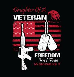 veteran design concept with daughter veteran vector image
