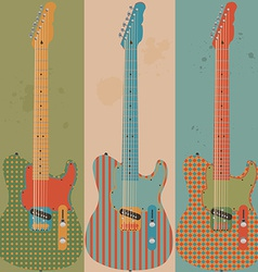 Vintage electric guitars vector
