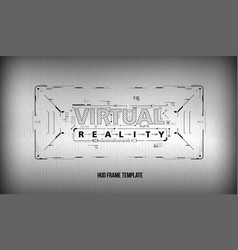virtual reality conceptual layout for print and vector image