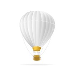 white hot air ballon isolated vector image