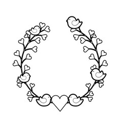 Wreath floral decorative icon vector