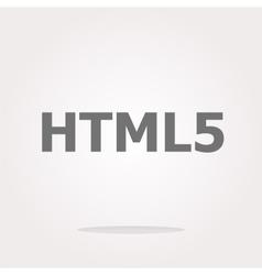 html 5 sign icon Programming language symbol vector image