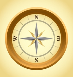 Old compass vector