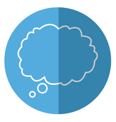 outlined cloud bubble speech blue background vector image vector image