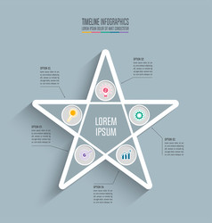 timeline infographic design business concept with vector image