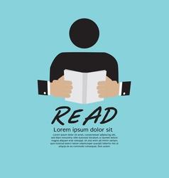 Book Reader vector image vector image
