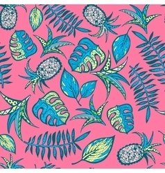 Cartoon tropical pattern vector image