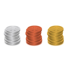 coins icon vector image