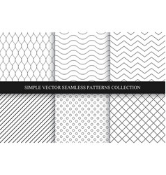 collection of seamless geometric minimalistic vector image vector image