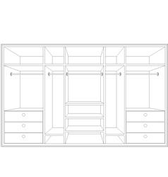 drawing of a wardrobe vector image
