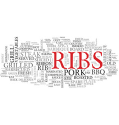 ribs word cloud concept vector image vector image