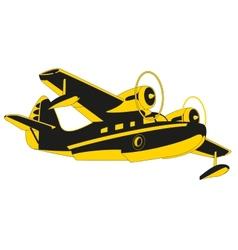 Sea plane vector