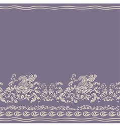 background floral seamless pattern vector image vector image