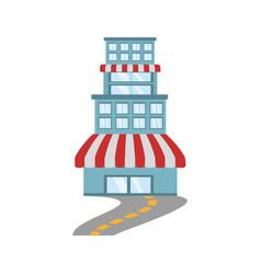 building store market road vector image