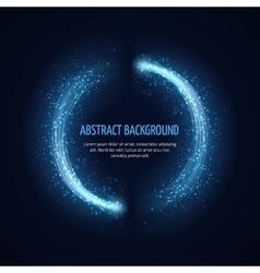 Glittering star dust circle frame vector image