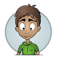 isolated avatars guy with a pleasant expression vector image vector image