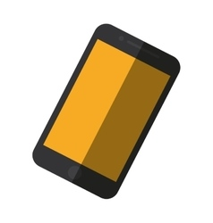 Mobile phone blue screen technology color shadow vector