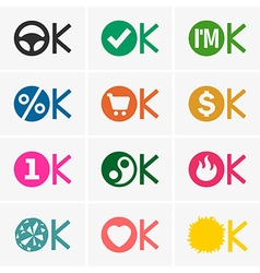 Okay icons vector image vector image