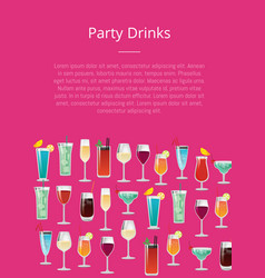 party drinks tropical cocktails with orange juice vector image