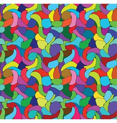 Abstract colored seamless pattern vector image vector image