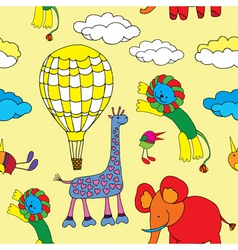 animals and balloon vector image