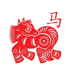 Horse lunar symbol vector