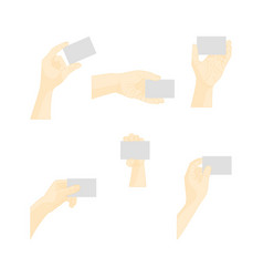 Human hand using blank plastic card vector