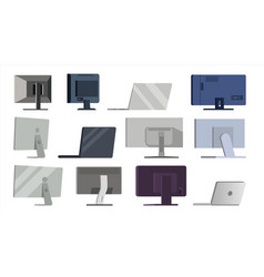 monitor set different types modern vector image