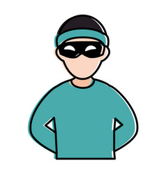 thief dangerous avatar character vector image vector image