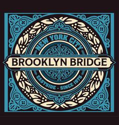 vintage new york brooklyn t-shirt vector image vector image