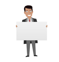 white board for business man in the suit holding vector image