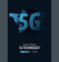 5g new wireless internet wifi connection banner vector image
