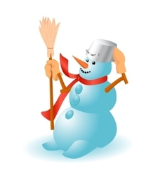 A very cheerful Snowman for Christmas vector