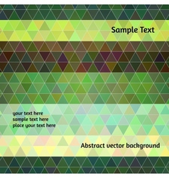 Abstract background Stylized triangle flat design vector image