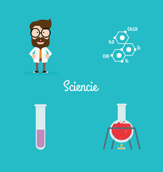 abstract science objects vector image