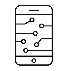 ai smartphone icon outline style vector image