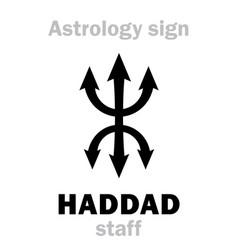 astrology haddad staff vector image