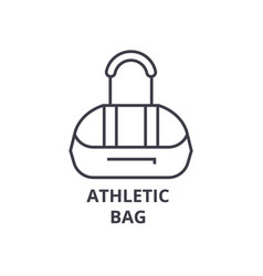 athletic bag line icon outline sign linear vector image