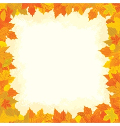 Autumn border vector